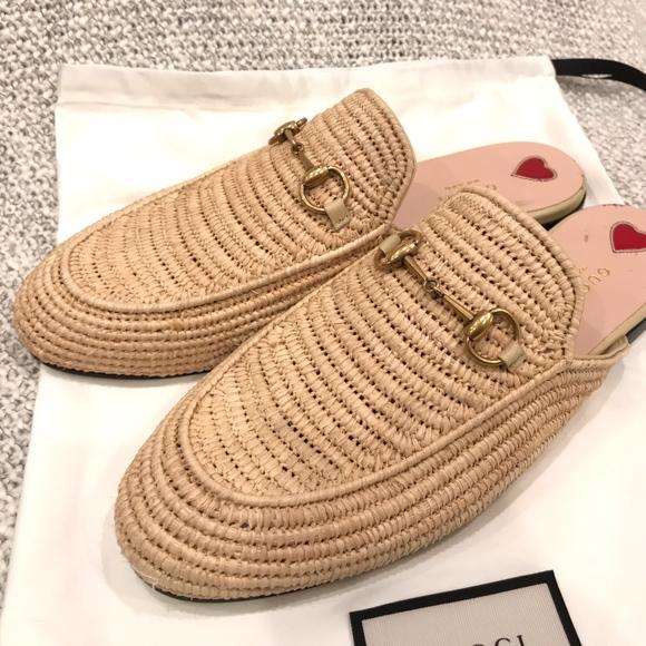 4c102cdb3 Gucci Shoes | Princetown Raffia Slipper Slide Loafer 41 | Poshmark